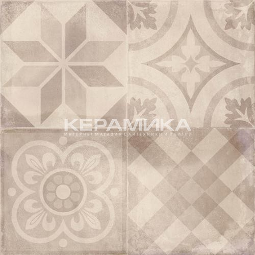 Керамогранит Reaction ivory decor 75*75