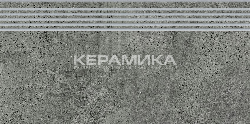 Керамогранит NEWSTONE GRAPHITE STEPTREAD 29,8×59,8